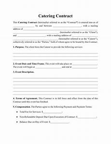 Catering Agreement Template Catering Contract Template Download Printable Pdf