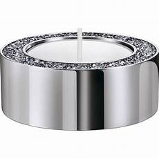 Minera Tea Light Holder Minera Tea Light Holder Small Silver Tone Swarovski Com