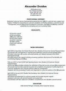 Resume Qualifications For Customer Service 1 Customer Service Representative Resume Templates Try