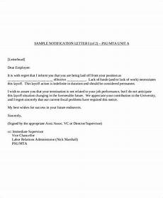 Employee Termination Letter Sample Free 36 Examples Of Termination Letter Templates In Pdf