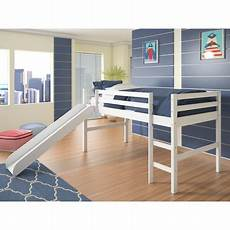 donco low loft bed with slide walmart