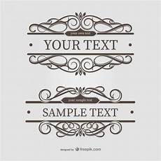 cornici grafiche ornamental text frames vector free