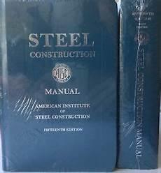 Steel Construction Manual 14th Edition Pdf Steel Construction Manual 15th Edition Hardcover 2017 Ebay