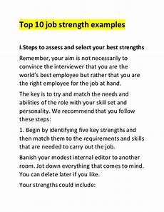 Professional Strengths Top 10 Job Strength Examples