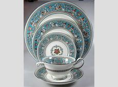 Antique Wedgwood Florentine Service for 12. Turquoise Blue