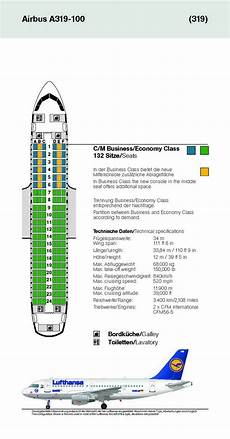 Airbus A319 100 Seating Chart Lufthansa German Airlines Aircraft Seatmaps Airline