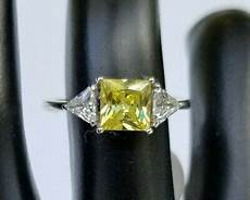 Fragrant Jewels Ring Size Chart Fragrant Jewels Size 7 Yellow Princess Cut Ring Ebay