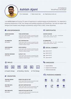 Wordpress Developer Resume Free Psd Resume Template Amp Cover Letter For Php
