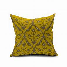 yellow vintage floral pillows morocco accent pillow covers