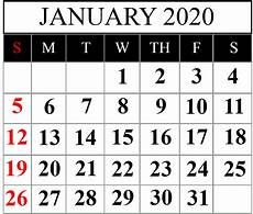 January 2020 Calendar Download How To Schedule Your Month With January 2020 Printable