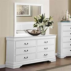 homelegance mayville 6 drawer dresser with mirror