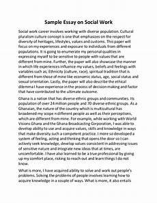 Essay On Hard Work Sample Essay On Social Work