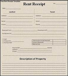 monthly receipt template receipt template for monthly rent exle of monthly rent