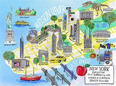 New York Malvorlagen Pdf Henniehaworth Illustration Kidscorner Galison Map