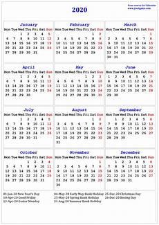 Print Online Calendar 2020 2020 Calendar Printable Calendar 2020 Calendar In