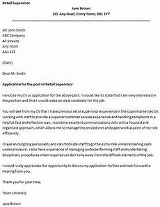 Cover Letter Example For Supervisor Position Retail Supervisor Cover Letter Example Icover Org Uk