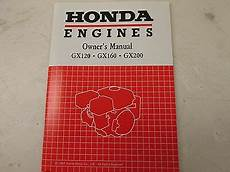 Quot Owners Manual Gx120 Gx160 Gx200 For Honda Quot