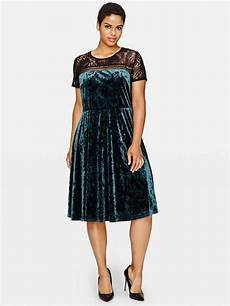 sangria crushed velvet dress with lace addition