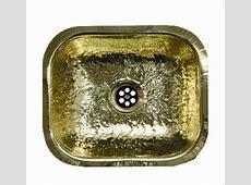 Whitehaus WH690BBB Rectangular Undermount Bar Sink   Hammered Brass   FaucetDepot.com