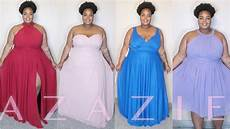 Azazie Dress Size Chart Plus Size Formal Gowns Ft Azazie Try On Youtube