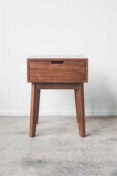 ventura stand solid walnut tapered leg nightstand