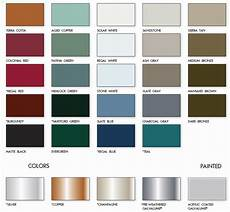 Tin Roofing Color Chart Metal Roof Colors Armor Metal Roofing
