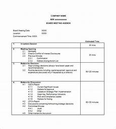 Agenda Template Word 2013 Simple Agenda Template 8 Free Word Excel Pdf Format