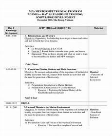 Sample Of Program Agenda Free 22 Training Agenda Examples Amp Samples In Pdf Doc