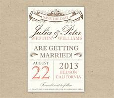 Free Downloadable Save The Date Templates Items Similar To Save The Date Custom Printable