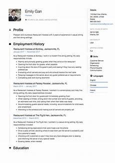 Resume For Restaurant Job Restaurant Hostess Resume Sample Template Example Cv