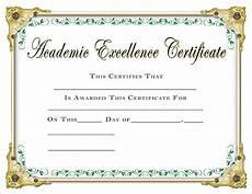 Academic Award Certificate Scholastic Certificates Academic Excellence Certificate