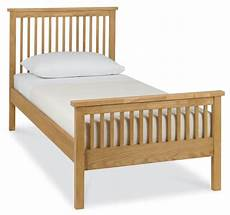 bentley designs atlanta oak high foot single bed frame