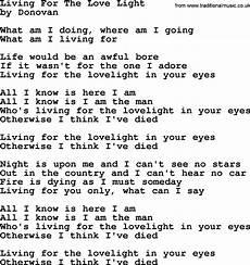 Love Light Lyrics Donovan Leitch Song Living For The Love Light Lyrics