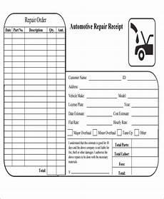 Automotive Receipt 6 Repair Receipt Templates Free Sample Example Format