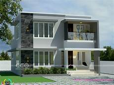 4 Bhk House Design Plans 1200 Sq Ft 4 Bhk Flat Roof House Plan Kerala Home Design