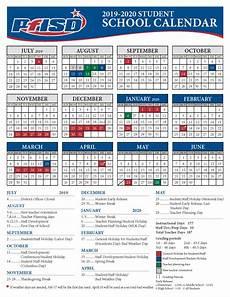 2020 16 Year Calendar School Year Calendar 2019 2020 District Calendar
