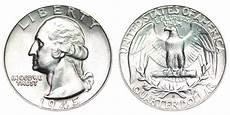1932 D Quarter Value Chart 1945 S Washington Quarters Silver Composition Value And