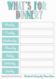 Weekly Dinner Schedule What S For Dinner 2 Fb Meal Planner Printable Meal