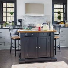 home styles kitchen island americana kitchen island and stools black and distressed