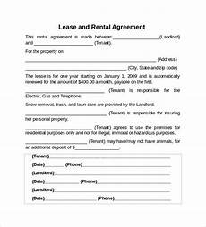 Example Lease Agreement Free 10 Sample Rental Lease Agreement Templates In Pdf
