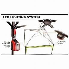Camping Canopy Led Lights Coleman Lighted Instant Canopy Portable Camping 10 X 10