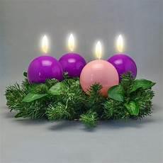 colore candele avvento corona avvento completa con candele a sfera viola e rosa
