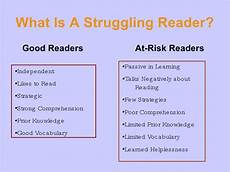 Struggling Readers Chart What Struggling Readers Need For Success