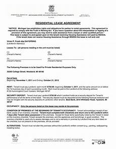 Residential Lease Agreement Format Residential Lease Agreement In Word And Pdf Formats