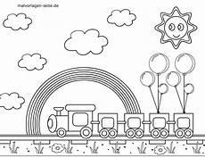 malvorlage kleine kinder eisenbahn kostenlose ausmalbilder