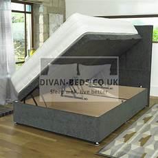 ethan ottoman storage side gas lift fabric divan bed base