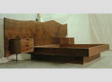 Walnut 13ft headboard, king platform bed and floating