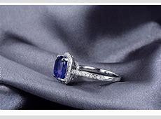 Antique 1.50 Carat cushion cut Sapphire and Diamond Halo