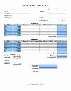 Time Card Calculator Bi Weekly With Lunch Timesheet With Lunch Printable Time Sheets Free To