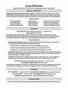 Resume Data Analysis Data Analyst Resume Sample Monster Com